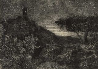 The Lonely Tower. Samuel Palmer, Brit