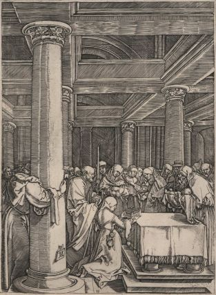 The Presentation Of Jesus To Simeon In The Temple. Marcantonio Raimondi After Albrecht...