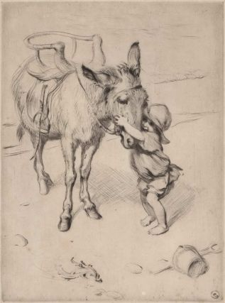At Yarmouth [Donkey And Boy]. James H. Dowd, British.