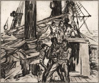 Sailors Fighting]. George Pearse Ennis, Amer