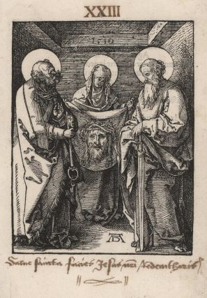 Saint Veronica Between Saints Peter And Paul, Albrecht Dürer, German.