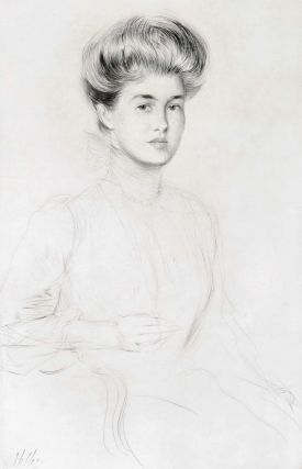 [Portrait Of A Society Lady]. Paul Helleu, French.