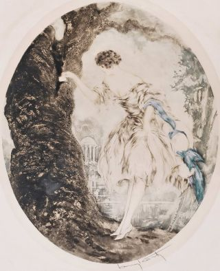 La Cachette (Hiding Place). Louis Icart, French