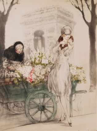 Marchande De Fleurs (Flower Seller). Louis Icart, French