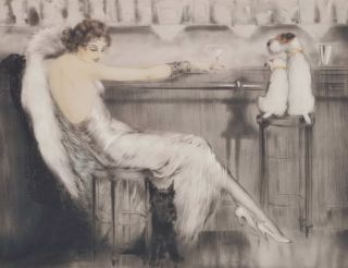 Martini. Louis Icart, French