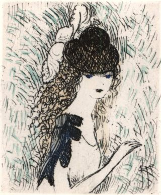 Le Chapeau Sur Les Yeux (The Hat Over The Eyes). Marie Laurencin, French
