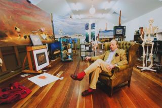 Tim Storrier In His Studio In Bathurst, NSW, Australia. R. Ian Lloyd, b.1953 Canadian/Aust