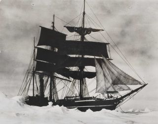"The ""Terra Nova"" Held Up In The Pack, [Ice Point In The Foreground, Antarctica]. Herbert G...."