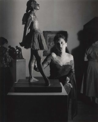 Tondi Adams And Degas Statue, Sir Jacob Epstein Retrospective, Tate Gallery, London. David Potts,...