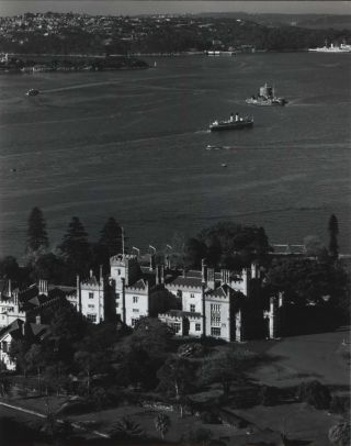 View Of Sydney Harbour Including Woolloomooloo Bay, North Head, Pinchgut (Fort Denison) And...