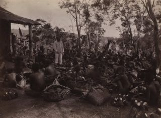 Market Day In Ralum [Papua New Guinea, Showing Parkinson With Locals]. Richard Parkinson, 1844-...