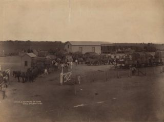 Arrival And Departure Of Teams, Moree Railway Yard [NSW]. Government Printer, est. 1842 Aust