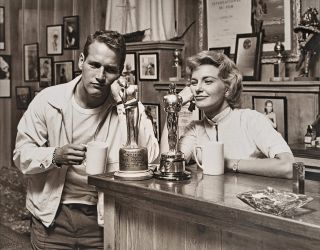 "Paul Newman And Joanne Woodward ""Admiring"" Their Awards. Sid Avery, Amer"