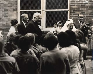 Prime Minister Robert Menzies At Far West Children's Health Scheme, Manly, NSW]. Beverley...