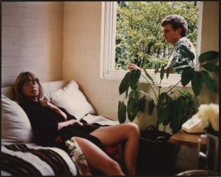 "Judy Morris On Couch And Richard Moir Through Window On The Set Of ""In Search Of Anna""]...."