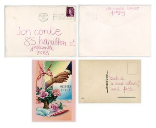 Correspondence From Carol Jerrems To Jon Conté