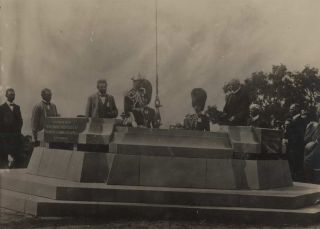 Laying Of The Foundation Stone (Commencement Column) For The Naming Of Canberra, ACT
