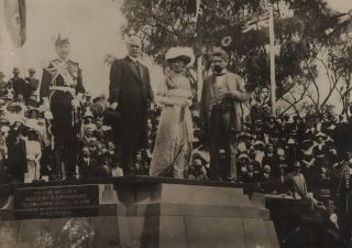 [Laying Of The Foundation Stone (Commencement Column) For The Naming Of Canberra, ACT]