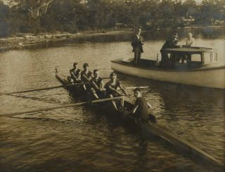 Sydney Grammar School Rowing Teams On Parramatta River, NSW