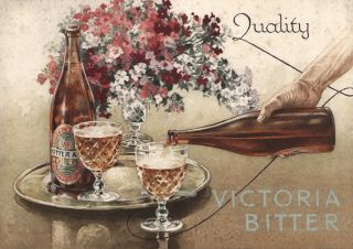 Artwork For Victoria Bitter Beer]. Attrib. Walter Jardine, Aust