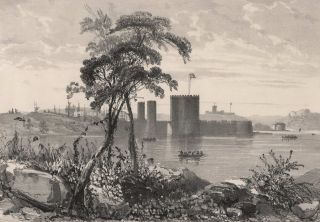 Fort Macquarie Sur La Pointe Est L'anse Sidney [The East Point Of Sydney Cove]. E. Bigot de la Touanne, French.