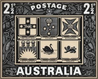 """Heraldry"" [Design For Australian Postage Stamp"