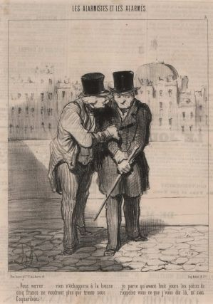 Satirical Political Illustrations For French Newspapers]. Honoré Daumier, French