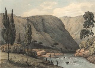 Group of four lithographs from Sketches in Australia from drawings by Captn. R.M. Westmacott