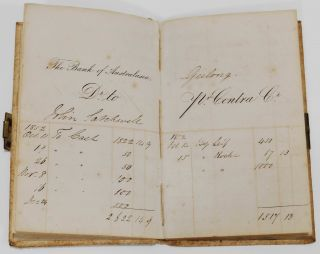 Bank Of Australasia Pass Book For John Satchwell