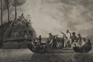 The Mutineers Turning Lieut. Bligh And Part Of The Officers And Crew Adrift From His Majesty's...
