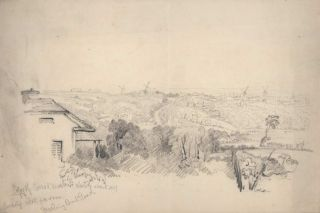 Looking West From Darling Point Road [Sydney, NSW].  After  Conrad Martens, Brit./Aust.