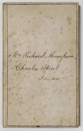 Bank Of Tasmania Pass Book For Mr Richard Thompson