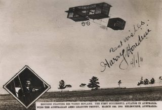 Houdini Piloting His Voisin Biplane [In Australia]