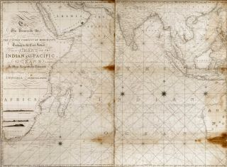 Chart Of The Indian And Pacific Oceans. John William Norie, British