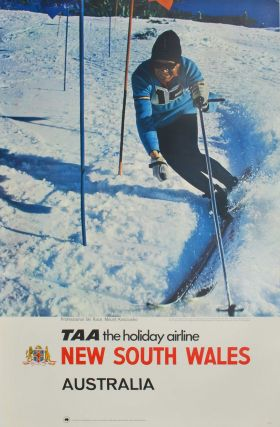 Professional Ski Race, Mount Kosciusko. TAA, The Holiday Airline
