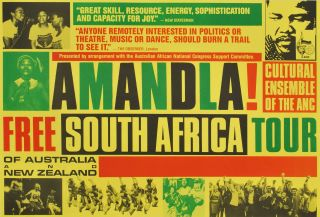 Amandla! Free South Africa Tour [Anti-Apartheid]