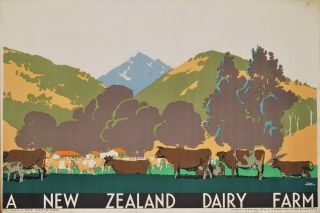 A New Zealand Dairy Farm. Frank Newbould, Brit.