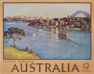 Sydney Harbour, Australia. John William Ashton, Will, Brit./Australian