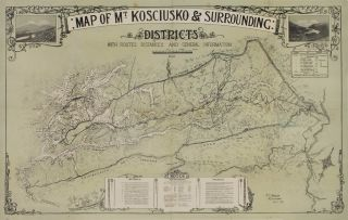 Map Of Mt Kosciusko & Surrounding Districts
