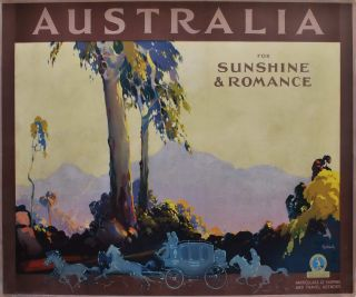 Australia For Sunshine And Romance. James Northfield, 1887- 1973 Aust