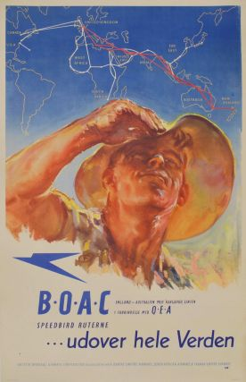 BOAC Speedbird Ruterne Udover Hele Verden (Routes Across The World). Harold Foster, fl....