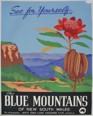 The Blue Mountains Of New South Wales. See For Yourself. Henry Rousel, Australian