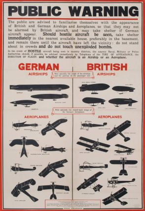 Public Warning [German Vs. British Airships, WWI