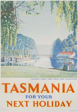 Tasmania For Your Next Holiday [Cataract Gorge]. Max Angus, Aust.