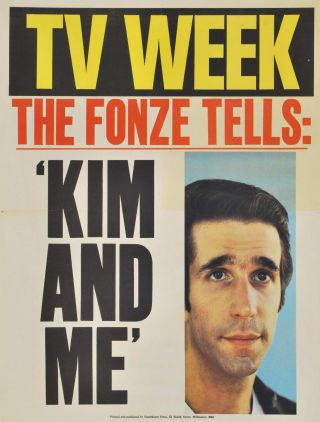 """TV Week."" The Fonze Tells: 'Kim And Me'"