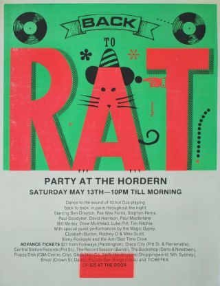 Back To RAT. Party At The Hordern
