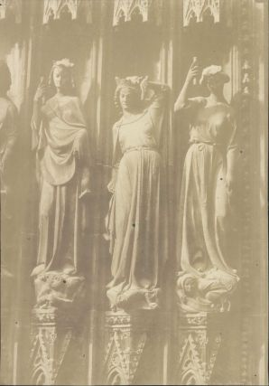 Three Virtues, Notre Dame Cathedral, Strasbourg, France]. Henri Le Secq, French