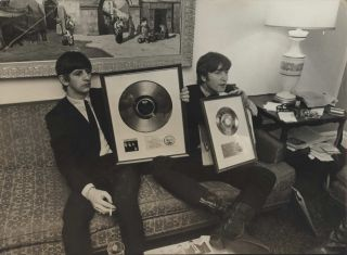 Ringo/John, 2 Silver Discs, Presented During Stay In USA. Dezo Hoffmann, c. Slovak/Brit