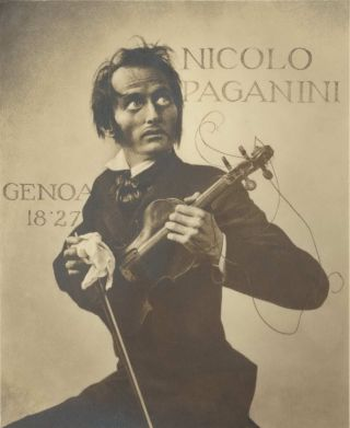 Nicolo Paganini. 1827, Genoa. William Mortensen, Amer