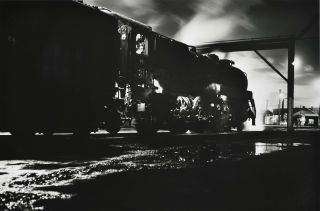 Broadmeadow, NSW [Locomotive At Night]. Charles Page, b.1946 Aust
